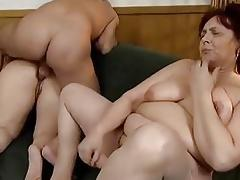 Nasty fat blonde woman gets her pussy part6