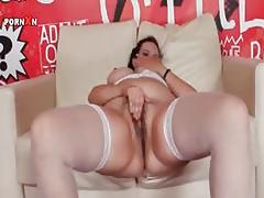 Filthy brunette slut fucking a massive part1