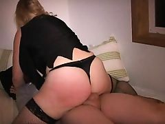 Cuck hubby lets guy tit squeeze spank and fuck me