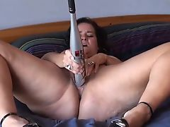 Sexy BBW and her bat